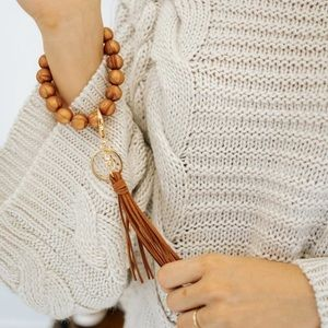 The Lani Silicone Key Chain~Copper Marble
